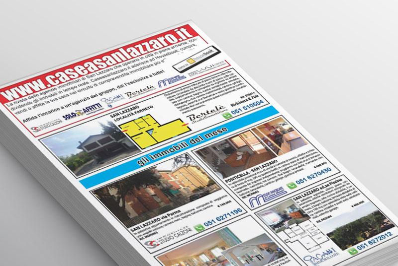 Impaginazione Rivista settimanale Case a San Lazzaro